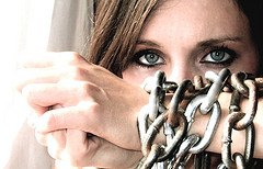 Image: Woman in chains