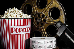 Image: Popcorn and Movie Reels