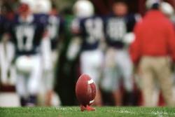 Image: Football on kicking tee